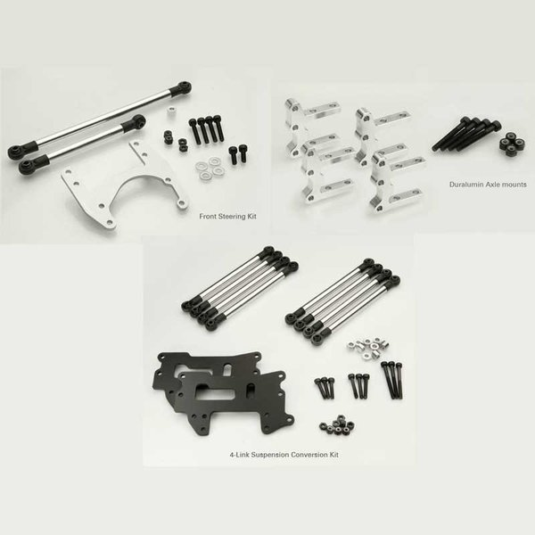 Tamiya Toyota Hilux / Ford F350  4 Link Conversion Kit